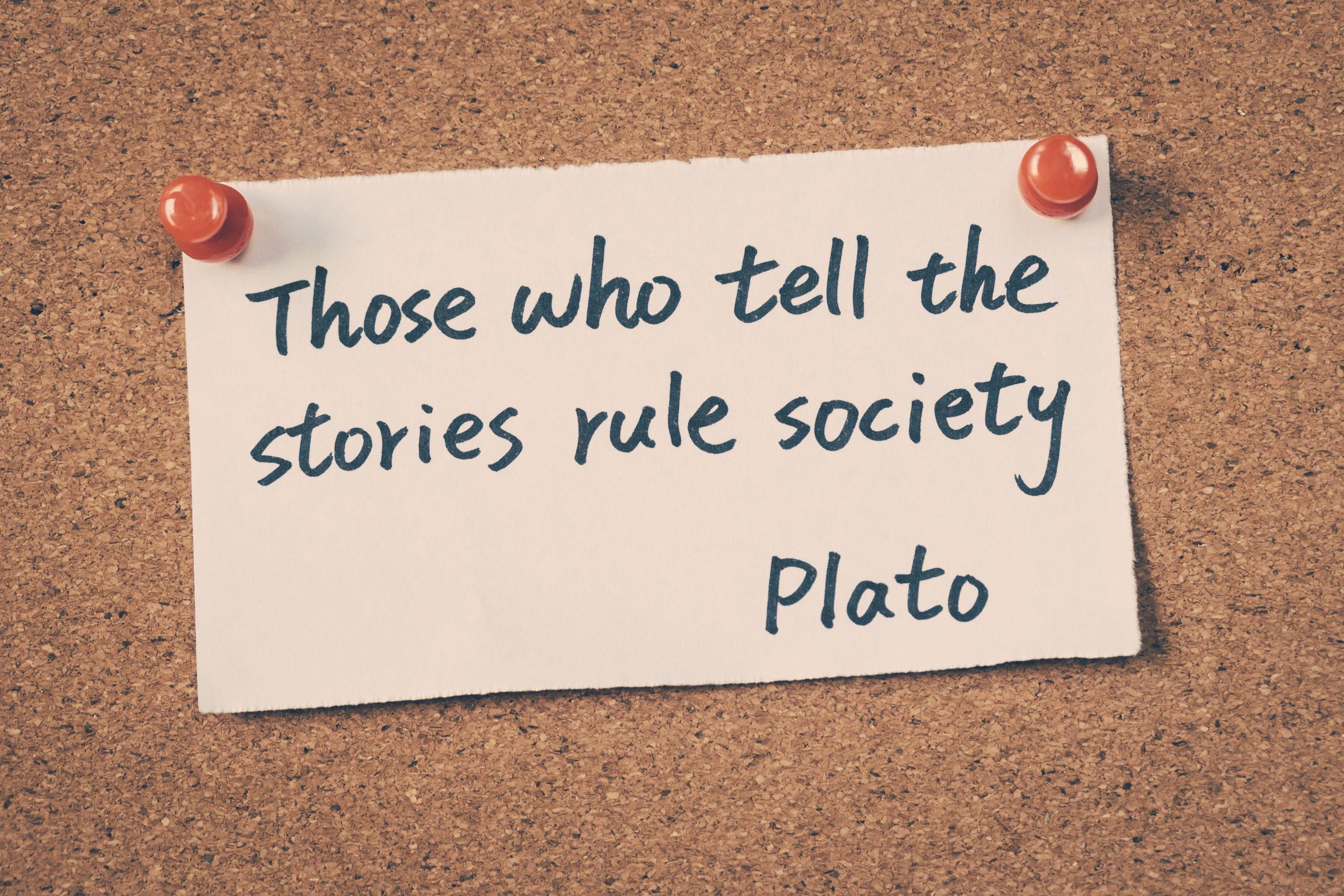 Citation de Platon sur le pouvoir du story-telling