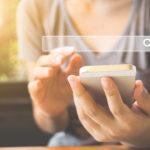 Recherche de mots-clés sur un mobile